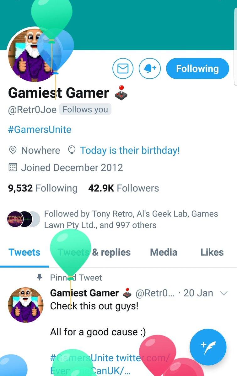 Happy Birthday! @Retr0Joe pic.twitter.com/DqfIDXENS0