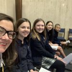 Image for the Tweet beginning: Cantor selfie! These kiddos sang