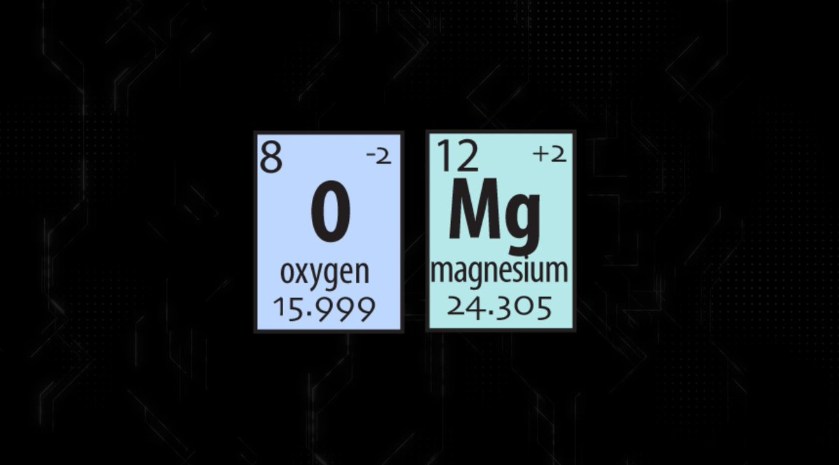 I just heard that Oxygen and Magnesium have been seeing each other periodically!