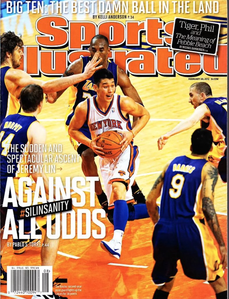 RT @darrenrovell This Day, Eight Years Ago: @JLin7 gets his first SI cover. A week later, he gets his second. Becomes first, and still only, athlete in SI cover history that has ever made an SI cover debut and then appeared on the following issue's cover. @PabloTorre with both stories.