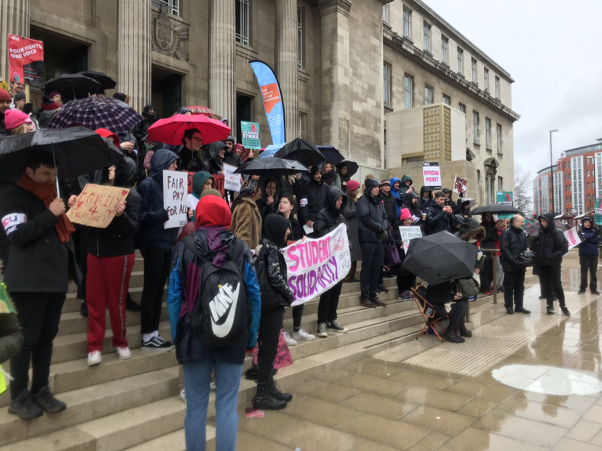 University and College Union pickets at the University of Leeds, 20th February 2020