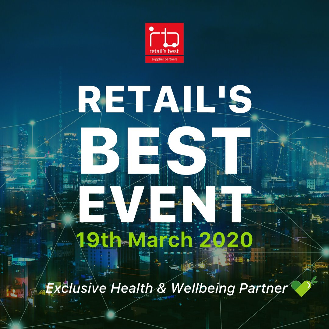 The countdown to @RetailsBest event is on! It's not long until we will be there representing the Health & Wellbeing partner of the event #CBD #CBDoil #hemp #CBDhealth #wellbeing #CBDbenefits #CBDproducts #organicpic.twitter.com/xCl7onmskk