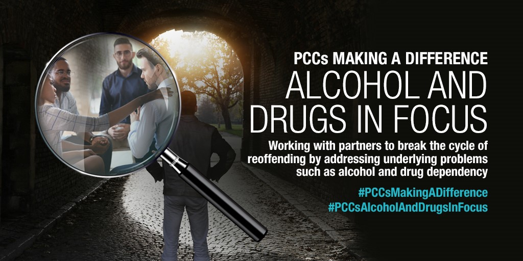 """In order to cut crime we have to open our eyes to the wider problems affecting our society"" @KatyBourne   Read @AssocPCCs 'Alcohol and Drugs in Focus' & find out how PCCs are #MakingADifference in this area.   https://bit.ly/2Hw4NFA   #CutCrime #ReduceReoffendingpic.twitter.com/hBF7ZTDoHO"
