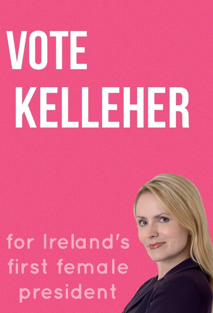 Delighted to have this gorgeous poster! #graphicdesign #politics #ireland #presidentialcampaign pic.twitter.com/eBwj6R8c5m
