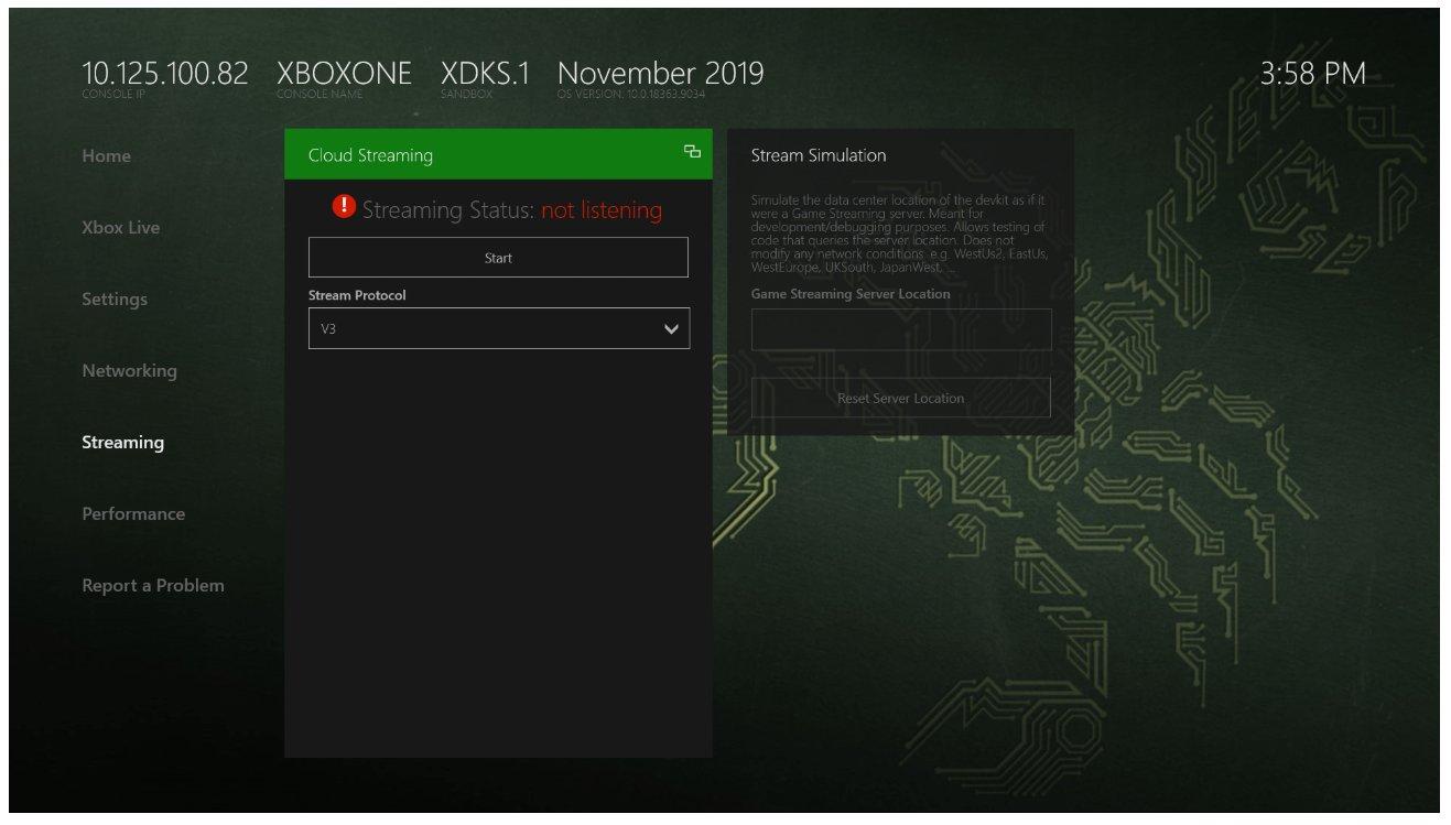 Se descubre una imagen de la interfaz del kit de desarrollo de Xbox Series X