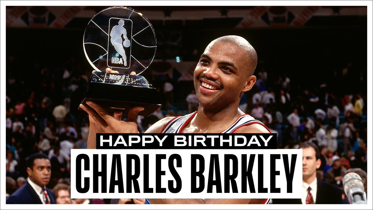 Join us in wishing a Happy 57th Birthday to 11x #NBAAllStar, '92-93 NBAMVP and @Hoophall inductee, Charles Barkley! #NBABDAY