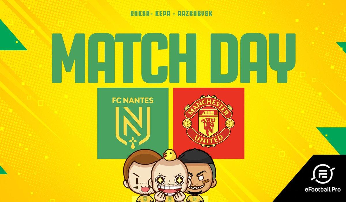 𝙂𝙖𝙢𝙚 𝘿𝙖𝙮 🎮  🏆 @officialpes #eFootballPES2020 🎮 J5 🆚 @ManUtd ⌚️ A partir de 15h45 📺 http://twitch.tv/fcnantes  #OnEstNantes