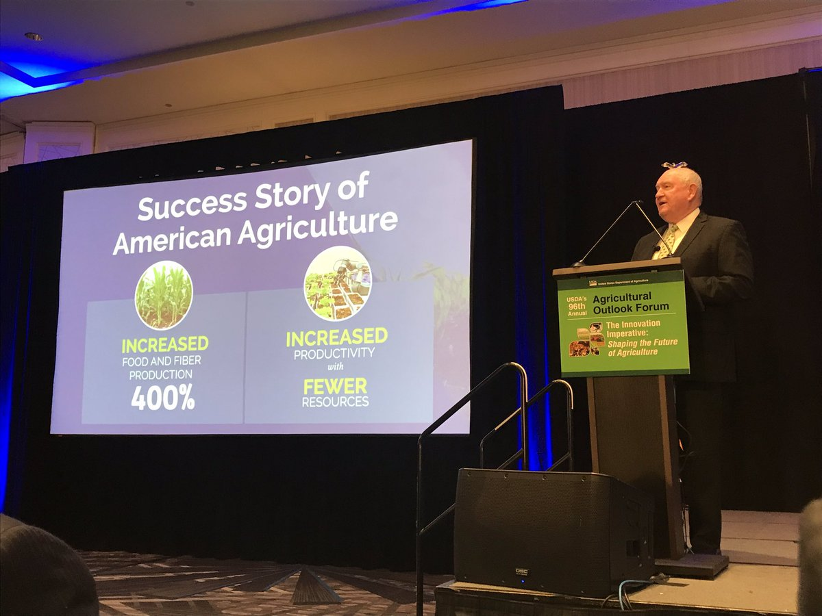 .@SecretarySonny telling the Success Story of American Agriculture at the 96th Ag Outlook Forum