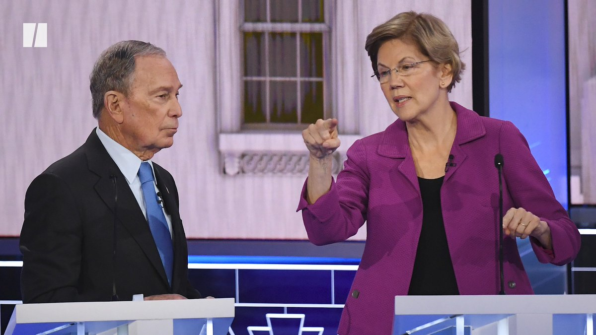 Elizabeth Warren burned Mike Bloomberg before, during and after the latest Democratic debate.
