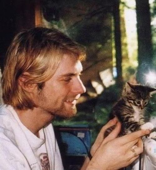 Happy birthday to Kurt Cobain. And can we just say how cute he was with kittens? So adorable. We miss you Kurt. Great musician and super cool guy. #KurtCobain