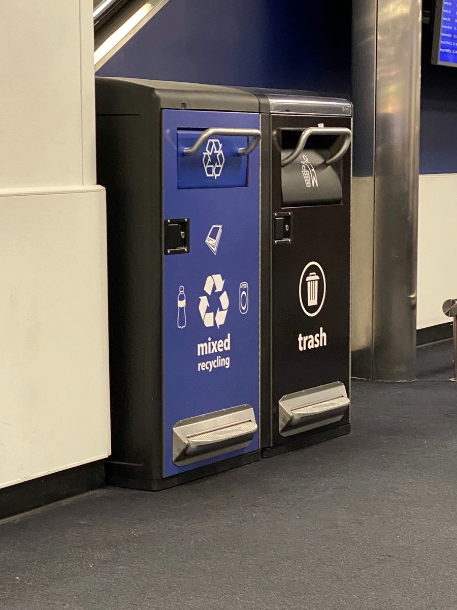 Okay be honest...did you know that airport trash bins have FOOT PEDALS?!