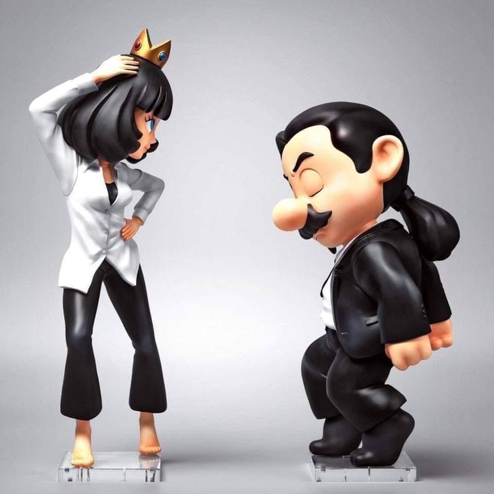 'Fools Paradise' ha lanzado unas figuras que mezcla dos íconos de la cultura pop, #PulpFiction y #MarioBros. Será un tiraje limitado, para coleccionistas, y solo habrá 498 piezas, a $348 cada uno.  ¡Ya están en preventa!pic.twitter.com/NypygXT5DU