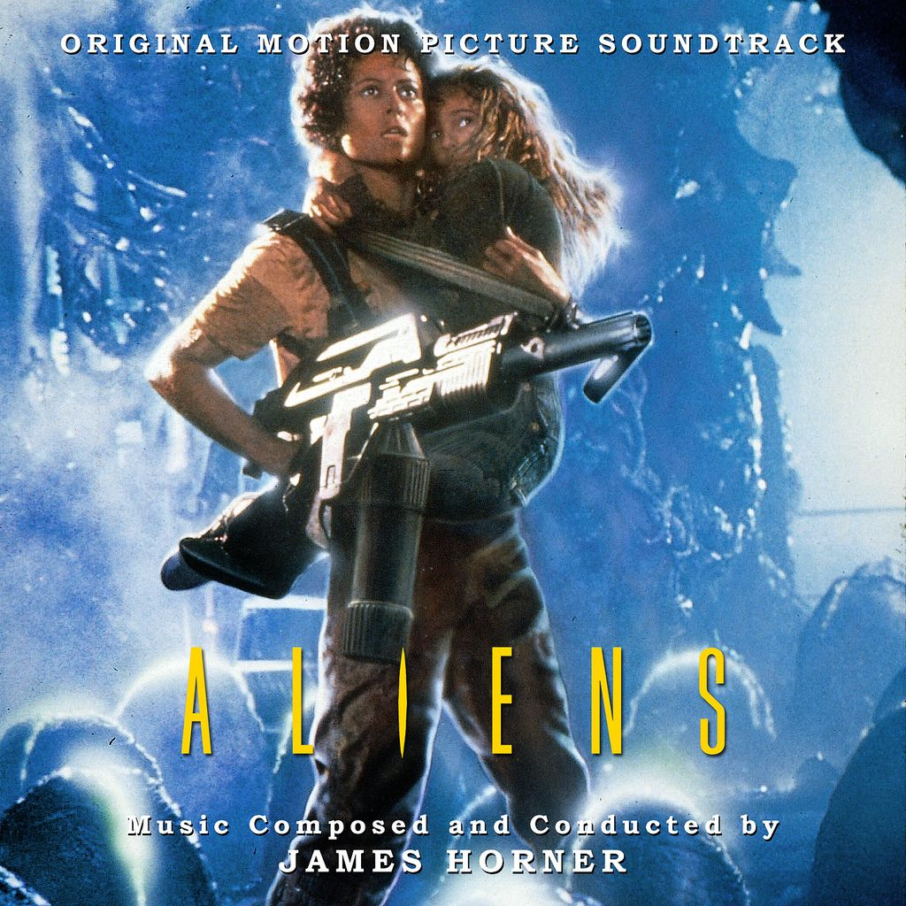 Album cover for the #ALIENS (1986) soundtrack composed and conducted by James Horner. #80s #SciFi #moviespic.twitter.com/DzsTOBUfME
