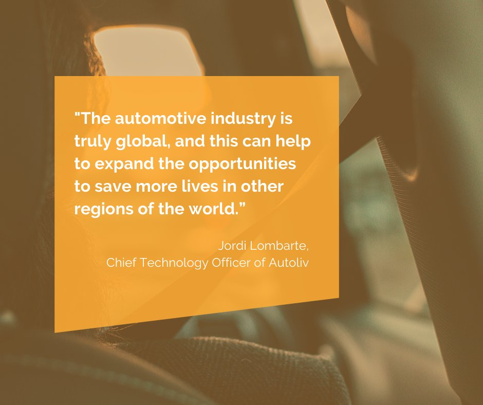 It is for all actors to work together and bring society ready available #safety technology, not only to certain regions but internationally, to achieve a zero-casualties world Read our interview with Jordi Lombarte, CTO of @AutolivInc https://mailchi.mp/eebeb2d3f4f8/future-as-we-move-2545957… #futureaswemovepic.twitter.com/GcqD3QaOX4