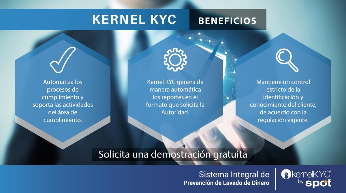 Kernel KYC cuenta con procesos que facilitan las actividades del área de cumplimiento, lo que permite dar seguimiento puntual a cada alerta detectada. ➡️ https://t.co/WXkvBuFz4R #PrevenciondeLavadodeDinero #PLD #GAFI #UIF #OficialdeCumplimiento #DCG #KernelKYC #SpotITPro https://t.co/f6zFauyqJB