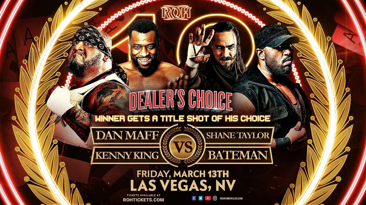 ROH Announces Dealer's Choice Match For 18th Anniversary PPV