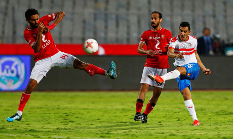 The match is underway #Ahly v #Zamalek (Egyptian Super Cup) english.ahram.org.eg/News/363841.as…