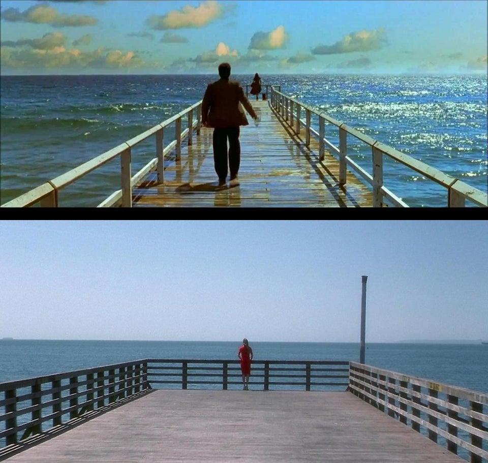 "Recreated the Jennifer Connelly Shell Beach pier scene from ""Dark City"".pic.twitter.com/k25tFhCBEI"