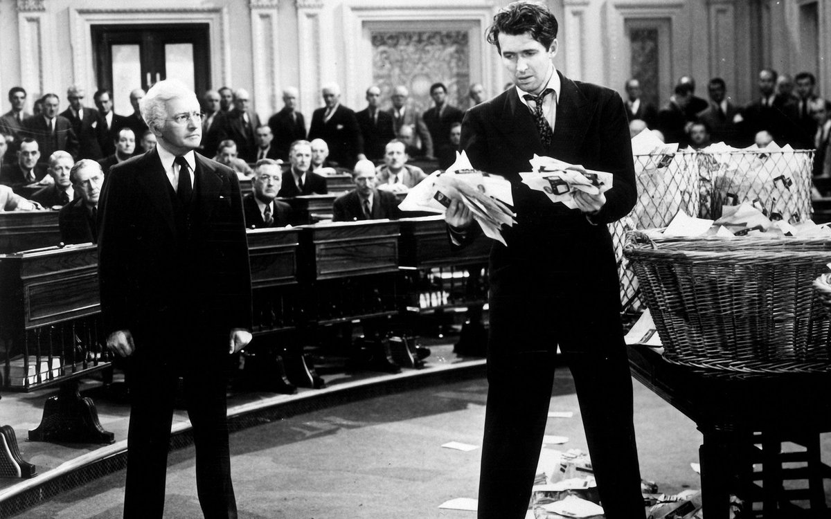 "#StonegasMovieChallenge2020 Day 20: #PostOffice  #MrSmithGoesToWashington (1939) ""Well, I'm not licked, and I'm gonna stay right here and fight for this lost cause, even if this room gets filled with lies like these!""  #JimmyStewart #ClaudeRains #FrankCapra #TCM #OTDpic.twitter.com/BM2KL2V5HF"
