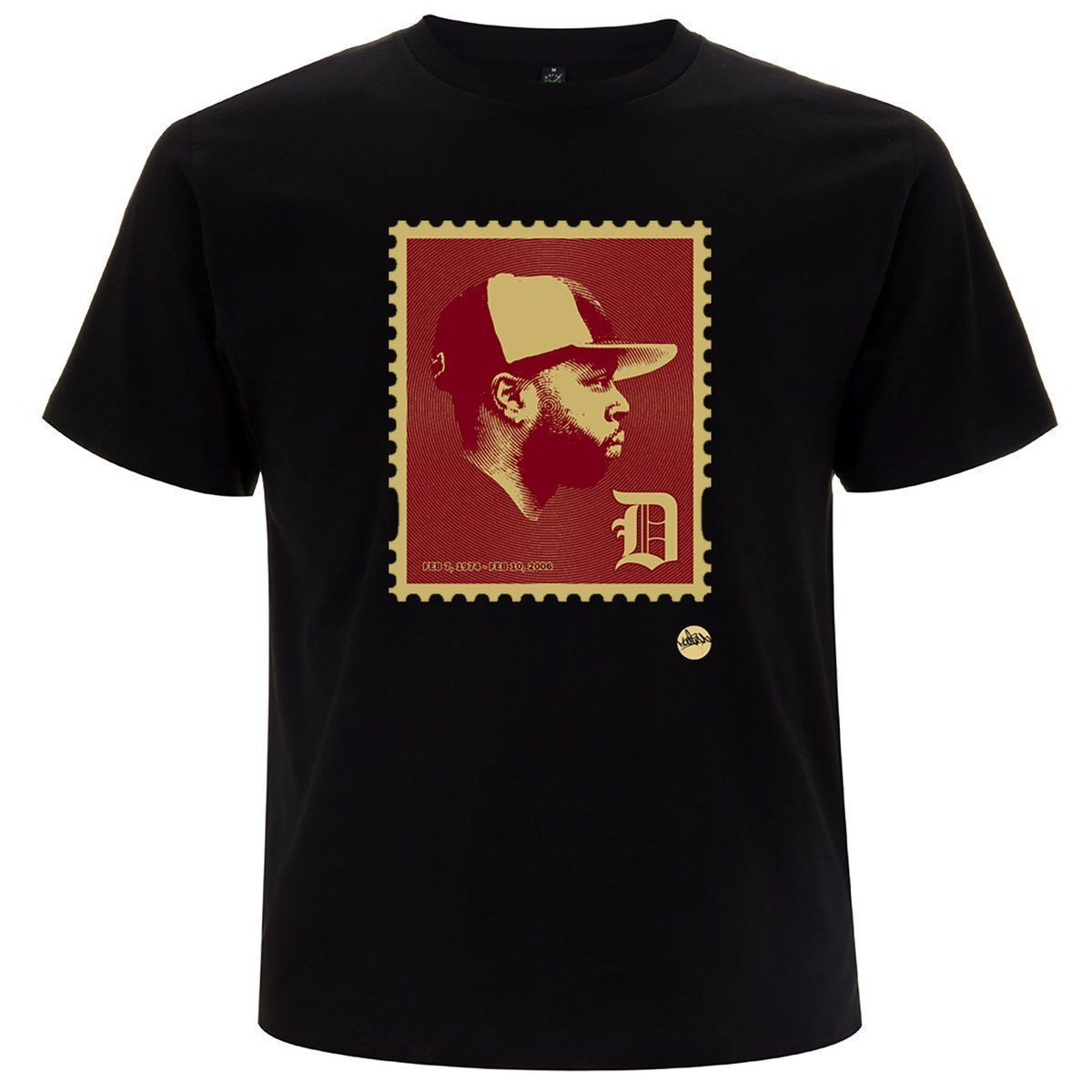 LOW STOCK! The JD' Stamp REMIX T-shirt by @madina_design available NOW >>  << Shipping now #hiphop #stamps #summer #detroit #jdilla #dilla #stamp #classic RT