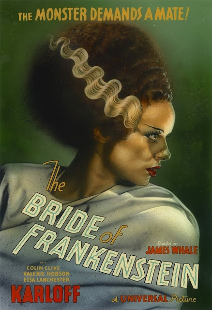 The Bride of Frankenstein is a 1935 American science fiction horror film, and the first sequel to Universal Pictures' 1931 film Frankenstein. It is directed by James Whale and stars Boris Karloff as the Monster and  Elsa Lanchester. Poster art by Greg Staples.  #horror #horrorartpic.twitter.com/orYmYWeinL