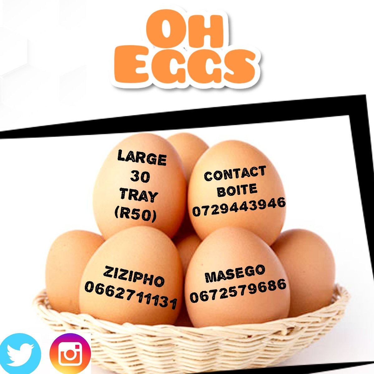 OH EGGS is now live!   DM or WhatsApp us for orders and enquires  We deliver to UJ SophiaTown Res and Westdene <br>http://pic.twitter.com/5WxK2iEMIk