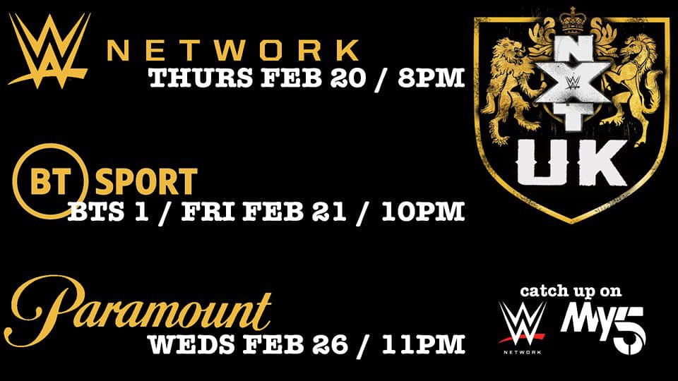 Big things happening this week on @NXTUK Here's where to catch it, don't miss out! #NXTUK
