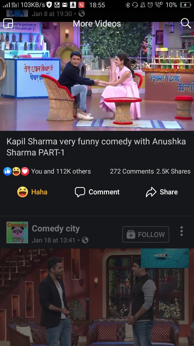 Haha...  Even fb knew the pairing  When are you both coming together on the show??  @imVkohli  @AnushkaSharma   @KapilSharmaK9 @almostbharat make this happen plz  @sumona24  @Krushna_KAS  @kikusharda  @bharti_lalli  @apshaha  #tkss #thekapilsharmashow  #kapilsharmashow <br>http://pic.twitter.com/eVlYK8mhGf
