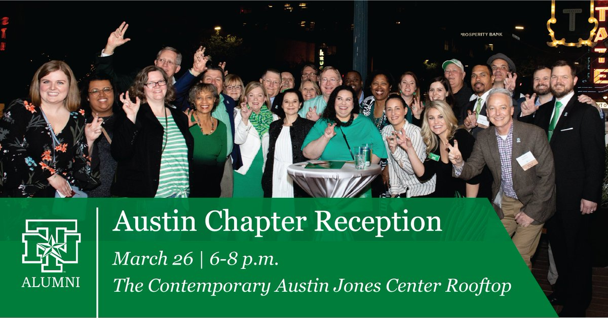 Austin-area alumni, were heading your way! Join us on March 26 for a one-of-a-kind #MeanGreen networking experience at The Contemporary Austin Jones Center. Details and registration: bit.ly/32gcz02