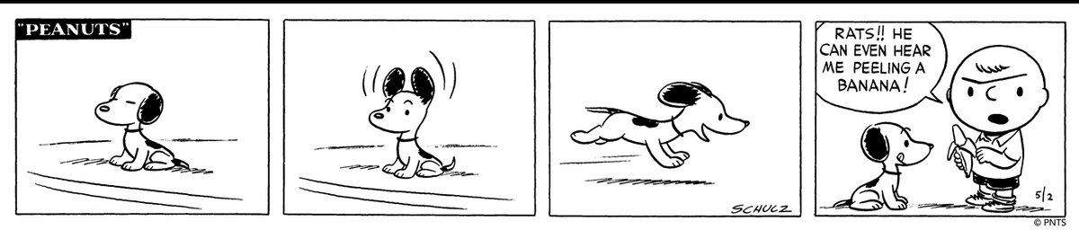 🐾 Its #NationalLoveYourPetDay and we must admit, were a bit biased towards Snoopy. Does your pet have a funny quirk or special talent?   🖋️ This Peanuts strip was first published on May 2, 1951.