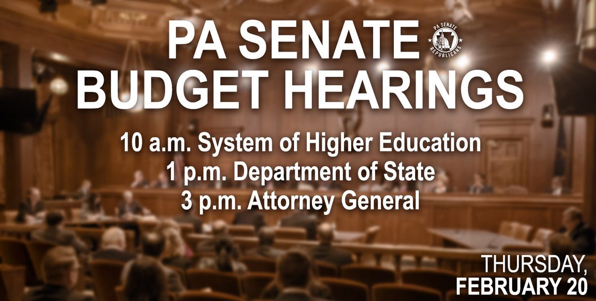#PASenate #pabudget Watch live or later at pasenategop.com