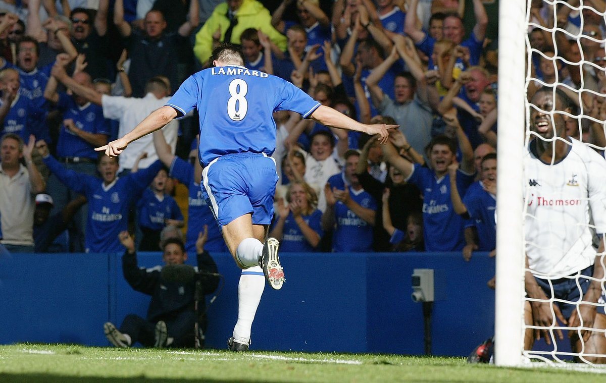 #TBT: Frank Lampard opening the scoring in a 4-2 win over Spurs back in 2003!