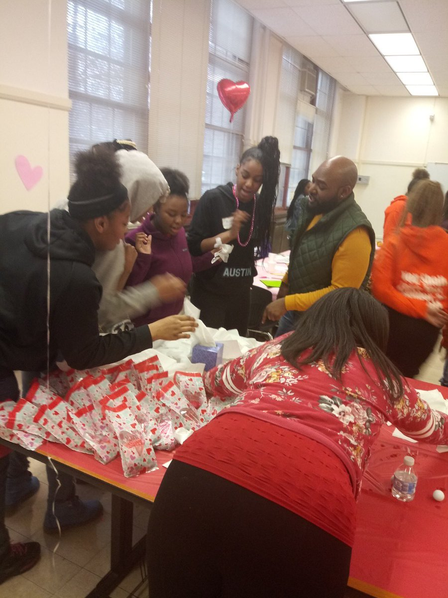 So proud of our scholars and staff who participated in and helped set up our very own #GalentinesDay event! They did such an amazing job. So many laughs and smiles. Thank you WOW 💜💜