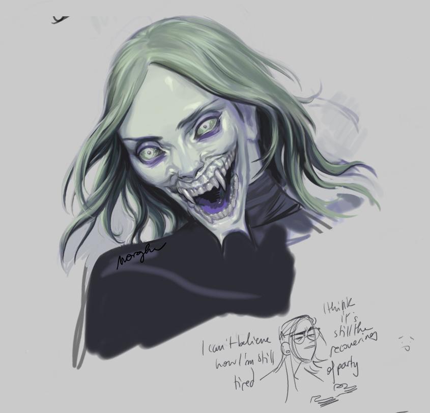 wheeze #teeth #monster #fangs #greenskin #horror #portrait #scaryface #greengirl #monstergirl #greenhair #digitalpainting #gothicpic.twitter.com/5YxOcbmHL5