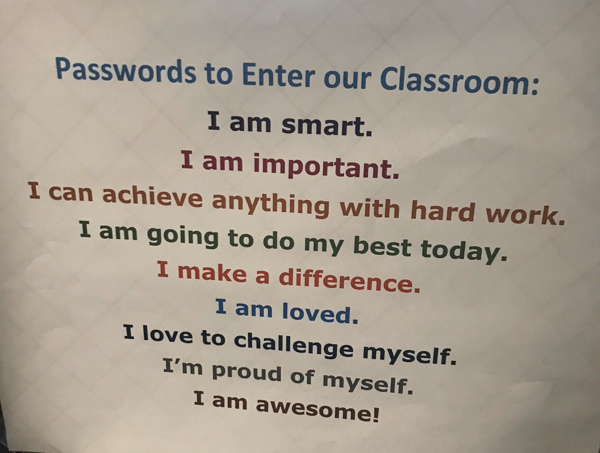 Outside a classroom I recently visited! Relationship building! @PrincipalMrT