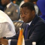 Image for the Tweet beginning: Togo's president seeks re-election to