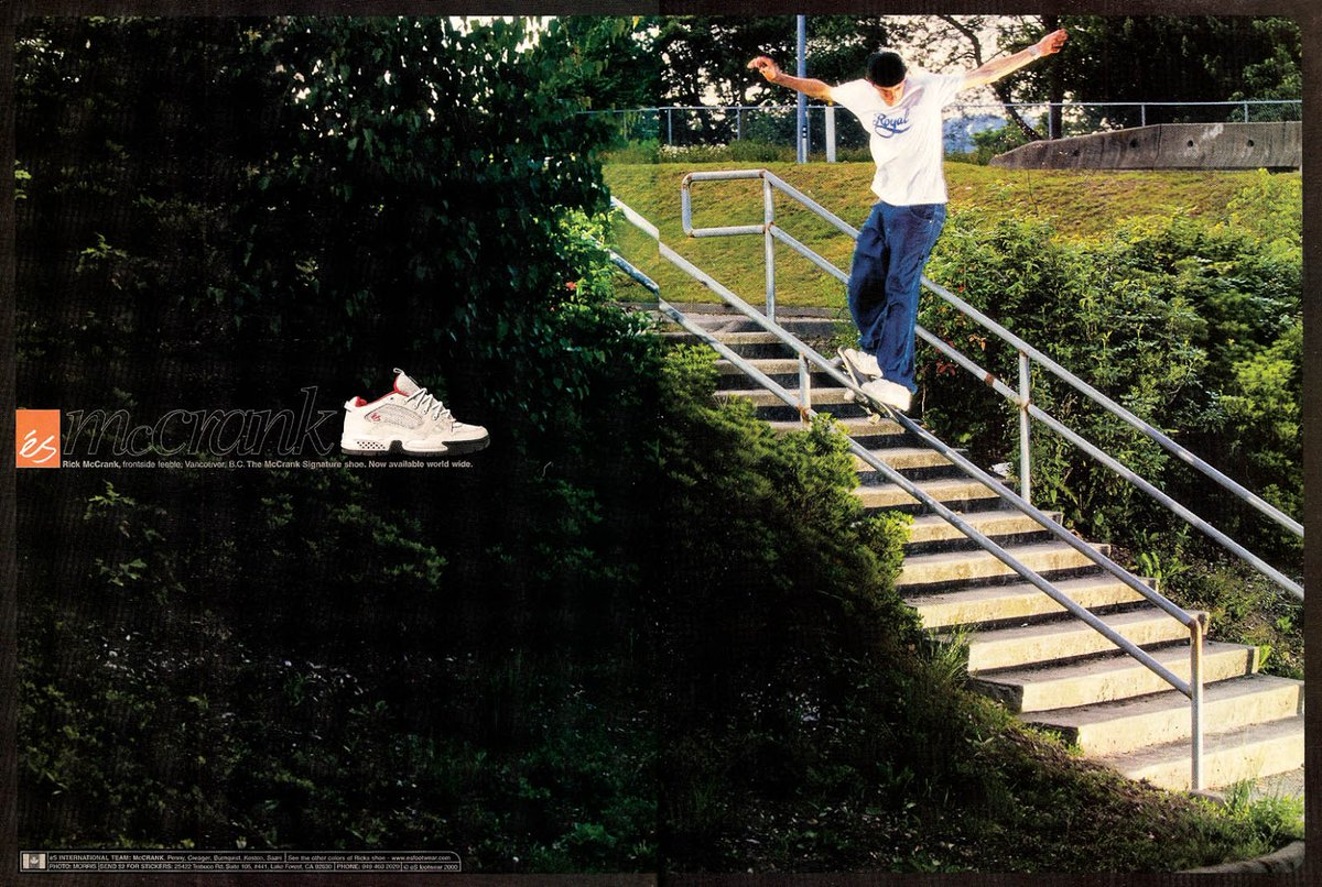 Rick McCrank was a good skater, but nothing will convince me that he looked cool on a skateboard.