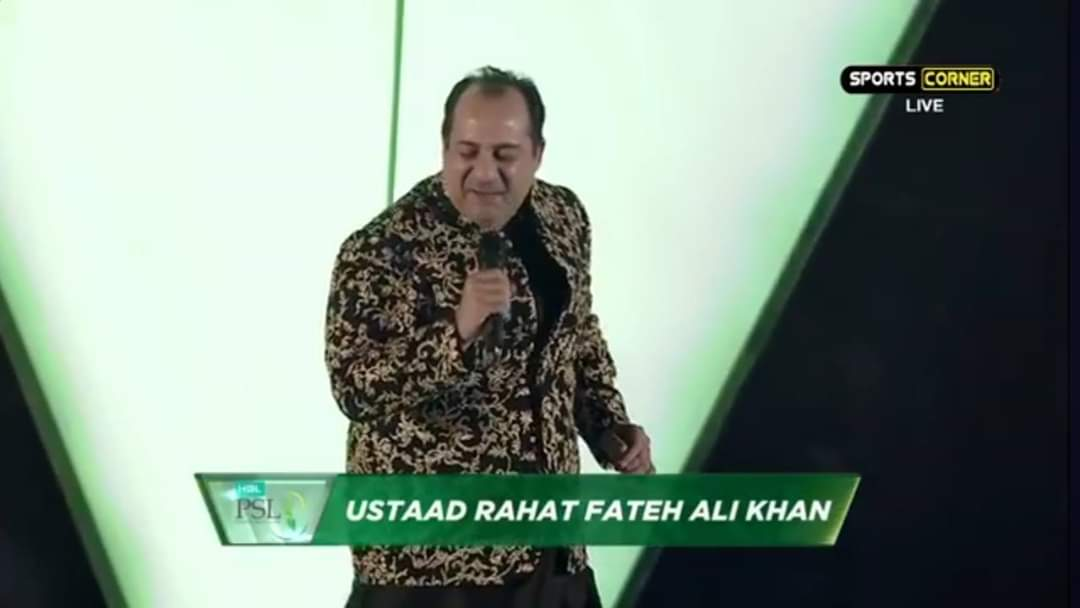Just Imagine: If Rahat Fateh Ali Khan Start Singing Mere Pass Tum Ho Ost... Whole Crowd gonna cry...#PSL2020 #HBLPSLpic.twitter.com/N2Dshohna0