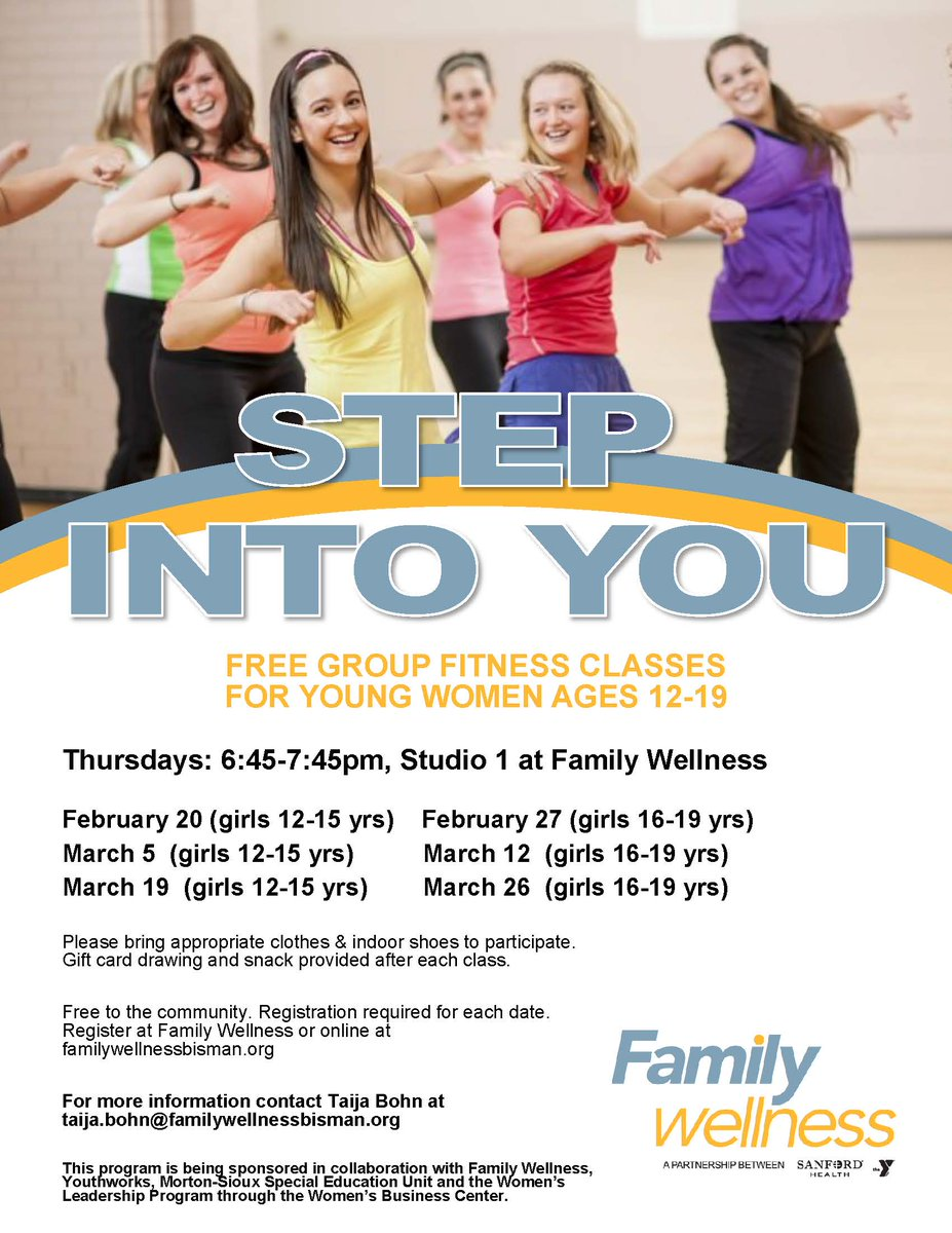 Please join us for tonight's special cycle session of Step Into You! Bring your moms, bring your sisters, bring you friends! Just be here for an exciting fitness experience!  http://www.familywellnessbisman.org/register.aspxpic.twitter.com/hvM4uFWkuo