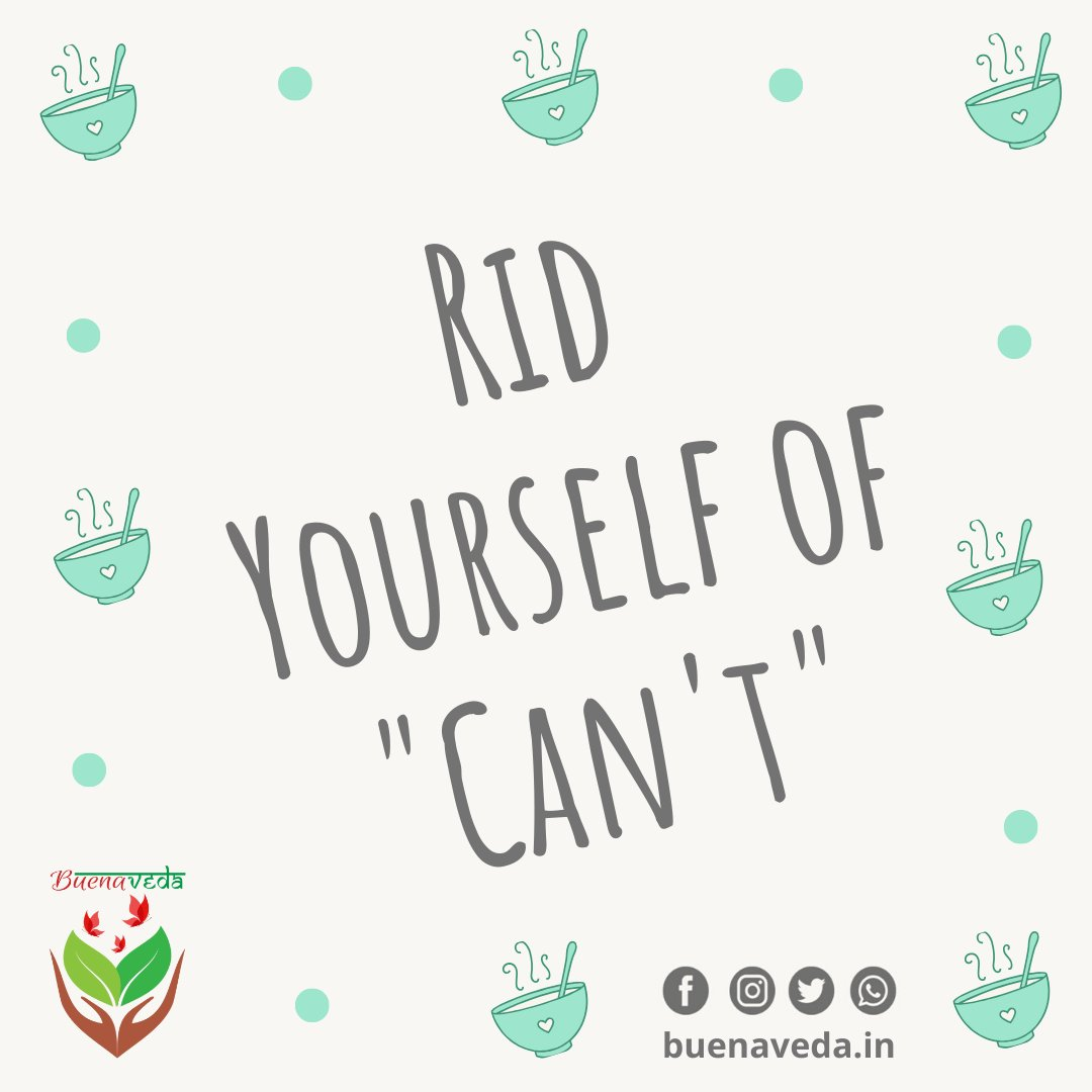 """#ThoughtfulThursday  When you feel like, """"You can't do something""""; keep your focus on the positive goal that got you started in the first place  http://www.BuenaVeda.in  #healthyliving #healthylifestyle #health #fitness #healthy #healthmotivation #AppleCiderVinegar #YouCan #WeCanpic.twitter.com/V5Xxcxhoe8"""