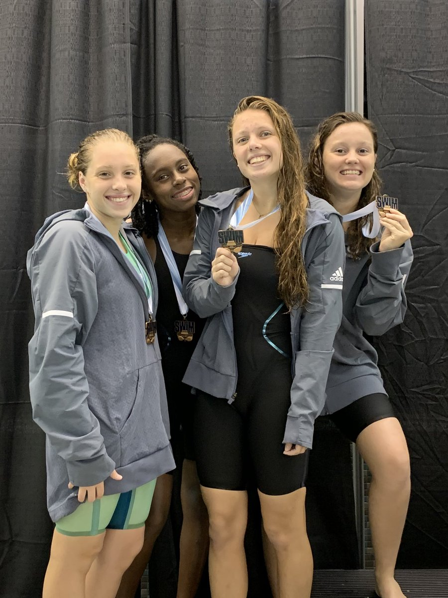 TU women's swimming team take 3rd in the 800 Freestyle Relay with a time of 8:08.24 at the SunCoast Conference Championships pic.twitter.com/FUGTJ2BZyC