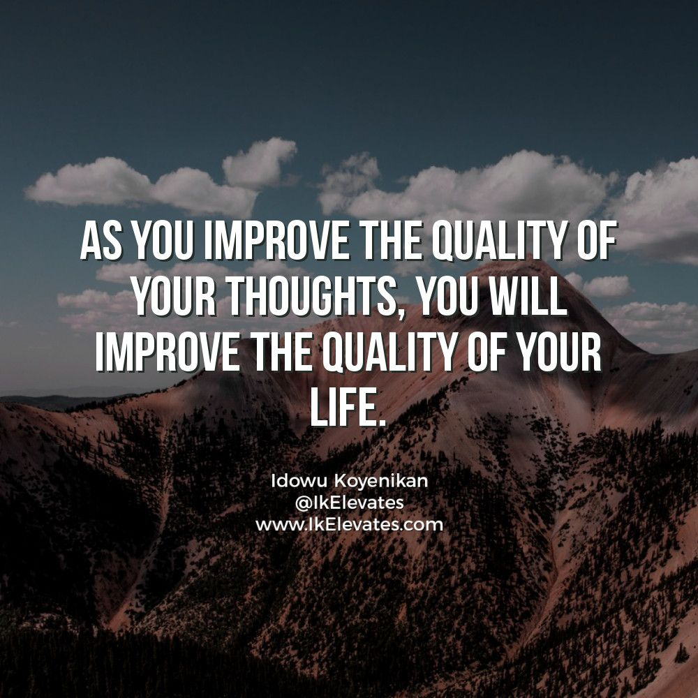 As you improve the #quality of your #thoughts, you will improve the quality of your life. #LifeHacks #lifequotes #lawofattraction #Wisdom #ThoughtOfTheDay #thoughtleadership #Mindfulness #Mindset #successquotes #successmindset #successtipspic.twitter.com/PsPmyZBY13