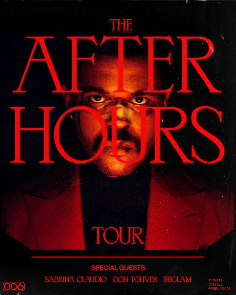 THE AFTER HOURS TOUR : ticketmaster.com/the-weeknd-tic…
