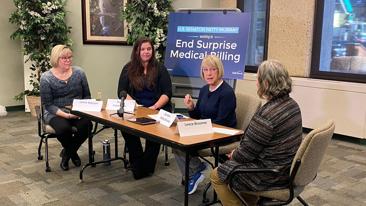Thanks to the women I spoke with in Seattle today who shared their experiences of dealing with surprise medical bills. While WA has passed a strong law to protect patients, this is still a problem for families across the country.