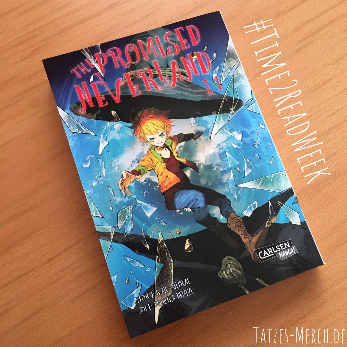 """Am vierten Tag der #Time2ReadWeek habe ich an meinem Buch weitergelesen und noch """"The Promised Neverland"""" Band 11 verschlungen - super spannend #TatzesMerch #ThePromisedNeverland #PosukaDemizu #KaiuShirai #CarlsenManga pic.twitter.com/nixA7d6FUL"""