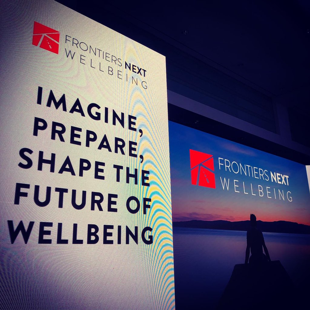 Today at @JumeirahET in #Dubai taking about the future of #Wellbeing and #Happiness at @frontiersnext https://t.co/3E02Ttycc1