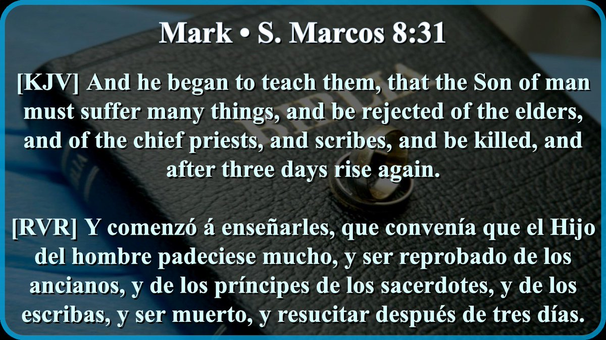 Mark 8:31-33 Citas bíblicas tomadas de la Reina-Valera 1960. pic.twitter.com/k1ysOkstm8