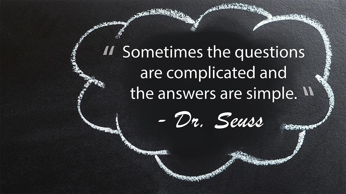 Problem-solving according to #DrSeuss. #ThursdayThoughts #education #school #teachers