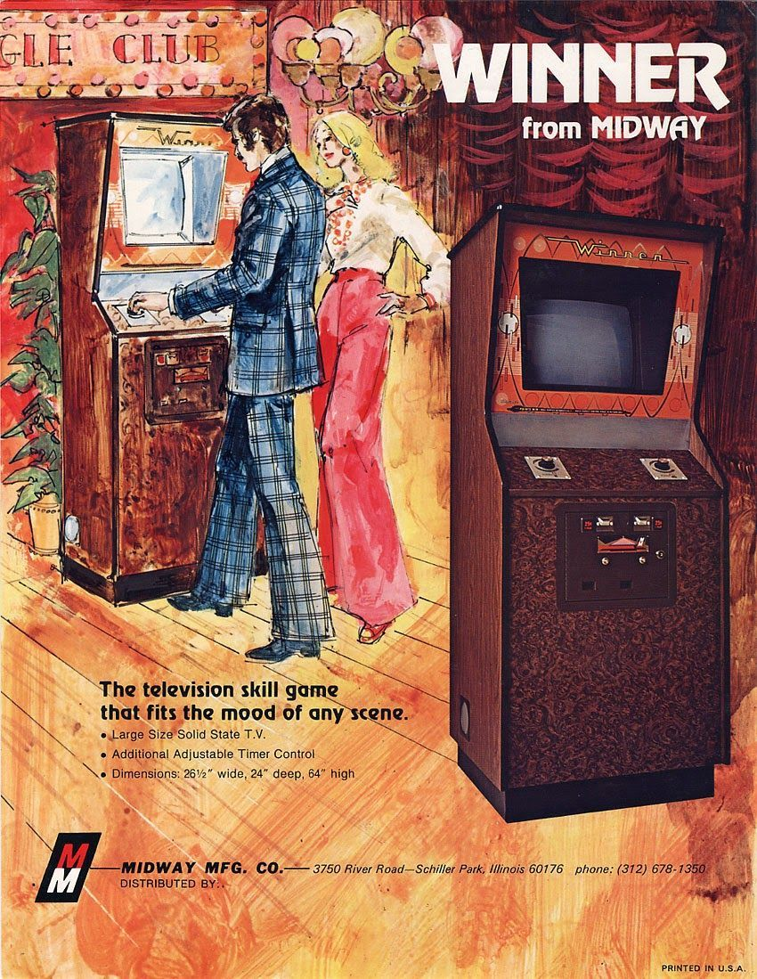 Winner from Midway - The television skill game that fits the mood of any scene (1973) #OldAdvertisements #backinthedaypic.twitter.com/jR28wHBKYa