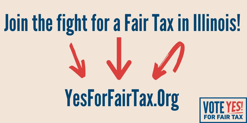 Be sure to follow @YesForFairTax and learn more about how you can help level the playing field for taxpayers in Illinois! #FairTaxNow
